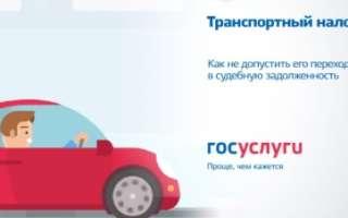 Процедура оплаты транспортного налога на Госуслугах